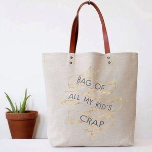 Bag of kids crap tote bag